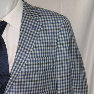 Peter Millar Two Button Linen Blend Blazer 42 R
